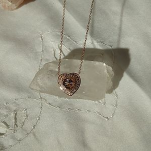 Zales Rosegold Chain and Heart